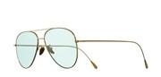 Selecteer om een bril te kopen of de foto te vergroten, Cutler and Gross 1266-GoldPlatedBlueLens.