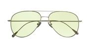 Selecteer om een bril te kopen of de foto te vergroten, Cutler and Gross 1266-PalladiumPlatedGreenLens.